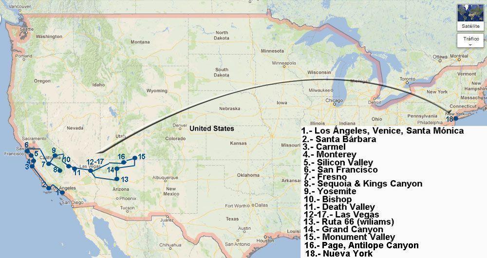 Viaje a la Costa Oeste