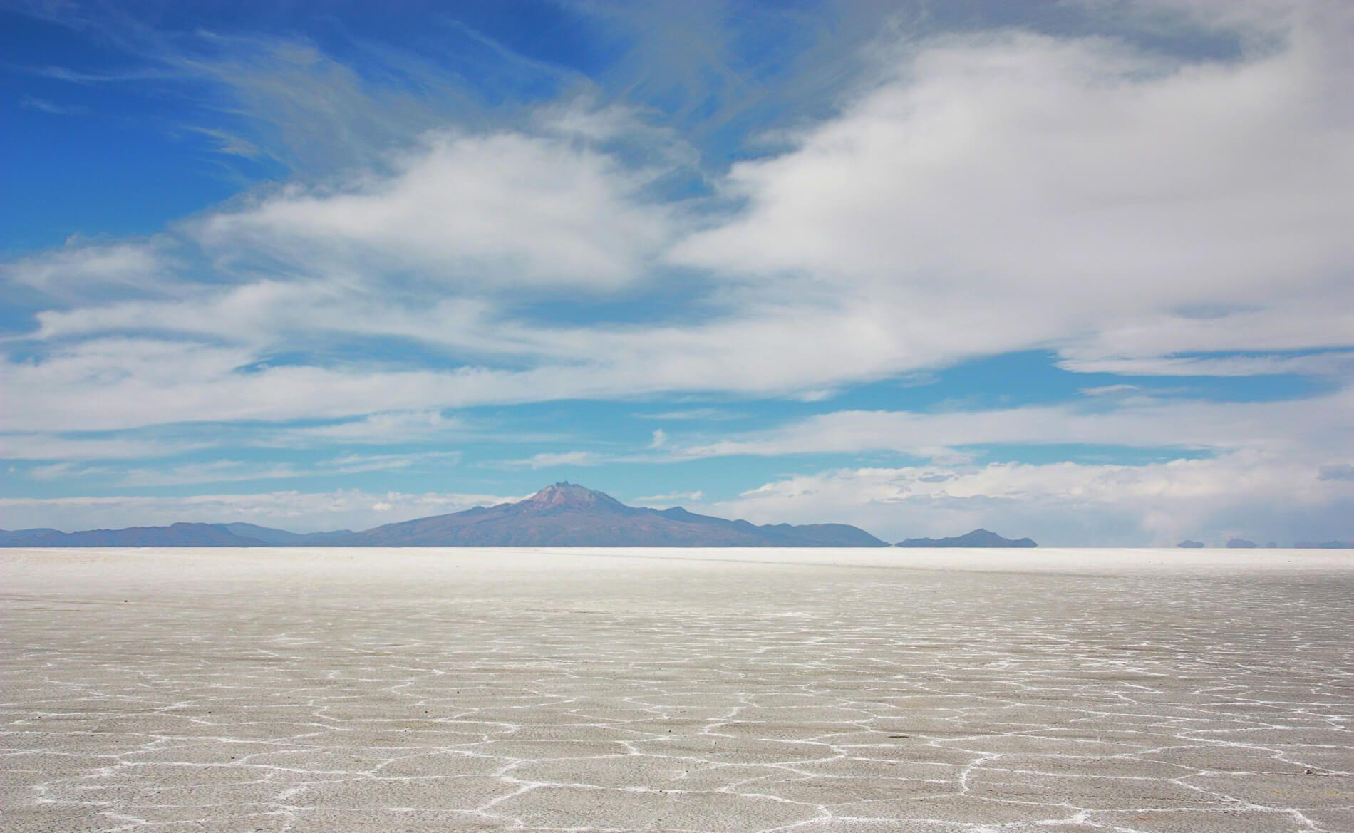 Panorámica del Salar de Uyuni en Bolivia