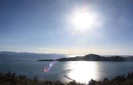 Bonito atardecer en la isla del sol