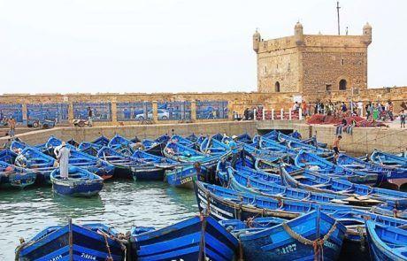 Barcas pescadores puerto de Essaouira, Marruecos