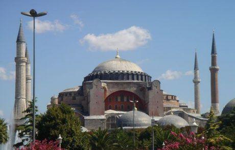La basílica de Santa Sofía en Estambul, Turquía