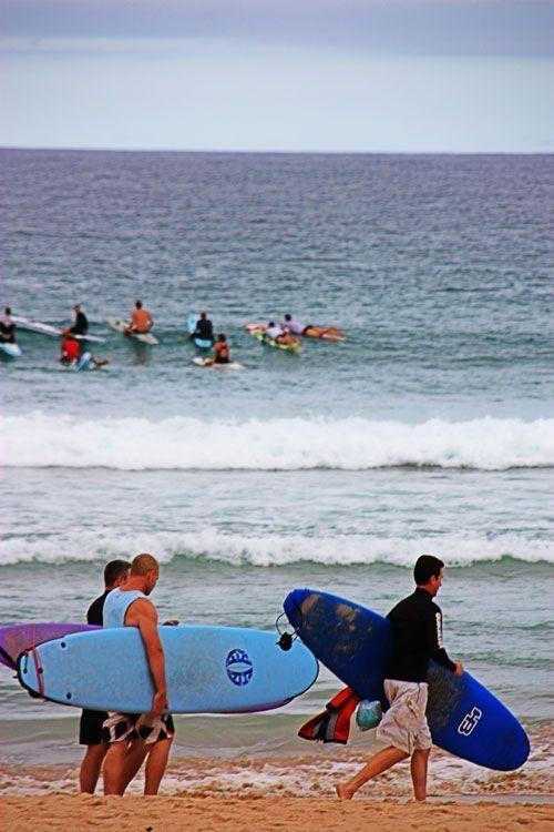 Surferos en Bondi beach, Sidney