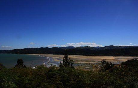 Bonito paisaje en el Abel Tasman National Park, Nueva Zelanda