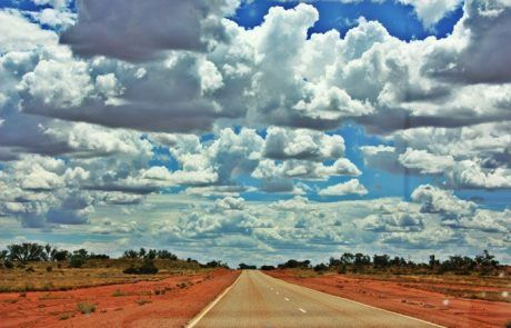 Carretera recta kilométrica, el Outback