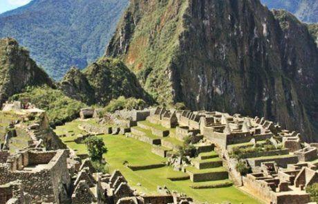 Increíble vista de la ciudad de Machu Picchu en Perú