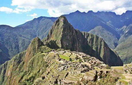 Panorámica del Machu Picchu en Perú