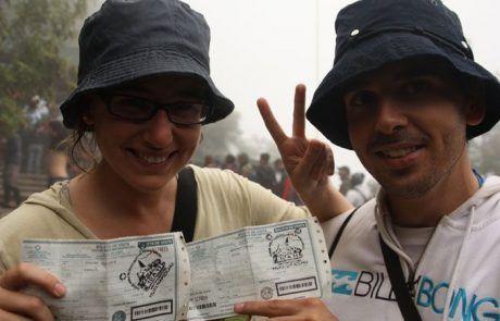 Conseguimos las entradas para ascender el Wayna Picchu