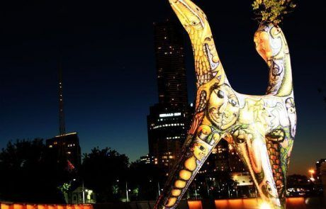Escultura iluminada, Melbourne
