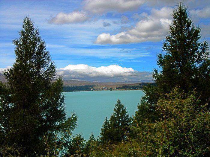 Espectacular vista del lago Tekapo, Nueva Zelanda