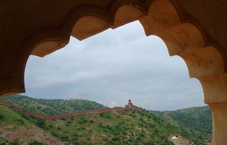 Vista desde la fortaleza de Amber en La India
