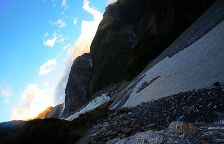 vista del Fox Glacier en Nueva Zelanda