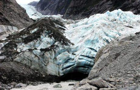 vista del glaciar de Franz Josef en Nueva Zelanda