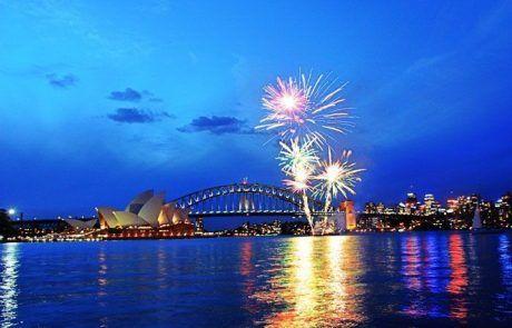 Fuegos artificiales sobre el edificio de la opera, Sidney