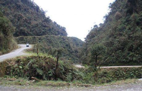 La carretera de la muerte en Bolivia