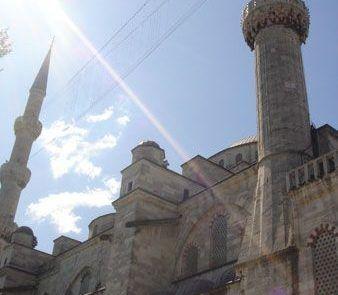 La mezquita azul de Estambul en Turquía