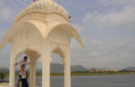 Lago de Udaipur en el Rajastán