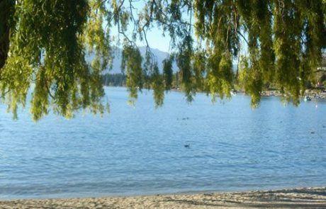 vista del Lago Wanaka en Nueva Zelanda