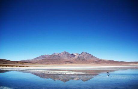 Panorámica de la laguna canapa en el Salar de Uyuni