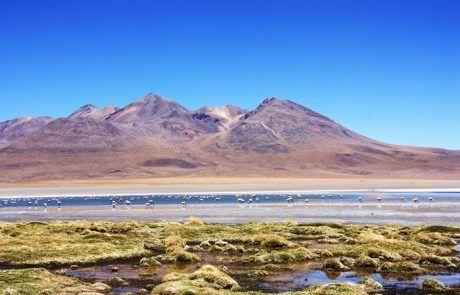 Panorámica de la laguna Verde en el Salar de Uyuni