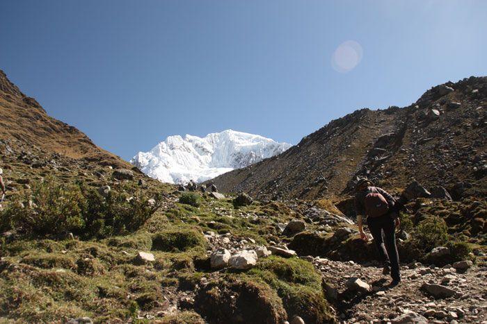 Camino de las siete culebras en el trekking Salkantay