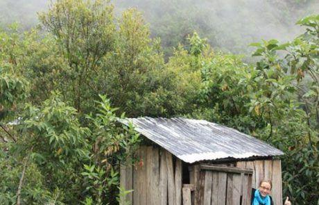 Lavabo rudimentario en el trekking del Salkantay
