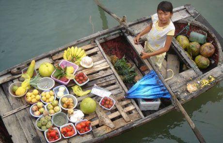 Mercado del delta del río Mekong