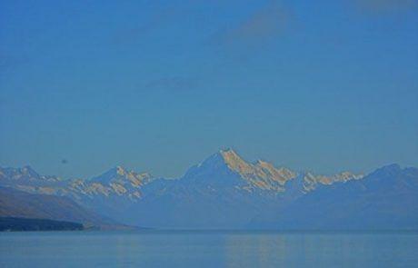 vista del Monte Cook en Nueva Zelanda