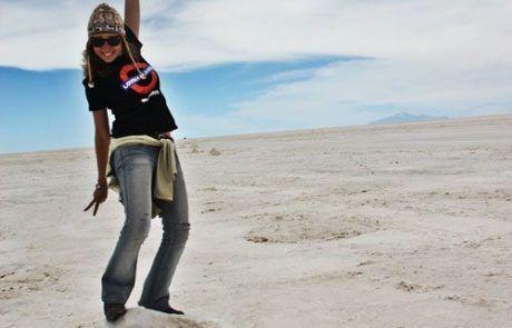 Montículo de sal en el Salar de Uyuni