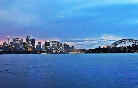 Bonita panorámica de la bahía de Sidney