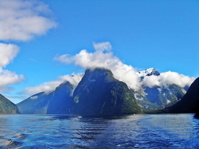 Panorámica de los fiordos de Milford Sound, Nueva Zelanda