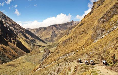 Espectacular panorámica durante el trekking Salkantay