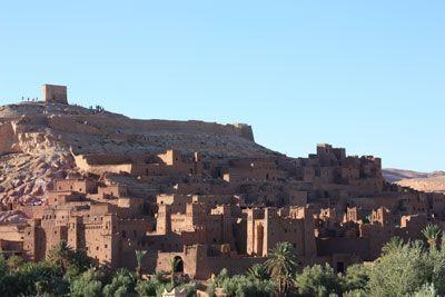 Espectacular panorámica kasbah Ait Benhaddou