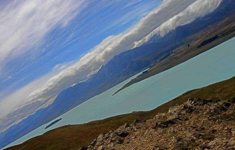 Panorámica del lago Tekapo, Nueva Zelanda
