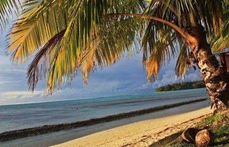 Playa del camping Nelson en Moorea