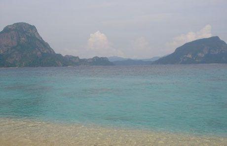 Espectacular playa paradisíaca en Filipinas