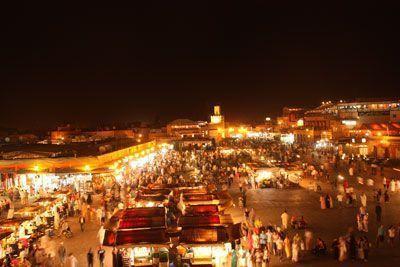 Plaza Djmaa el Fna de noche
