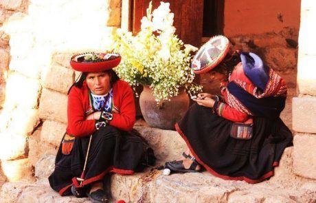 Retrato de dos mujeres peruanas