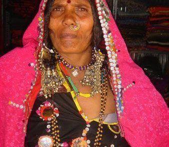 Retrato de una mujer india