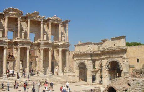 Ruinas de la biblioteca romana de Éfeso en Turquía