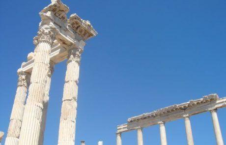 Las ruinas romanas de Pérgamo en Turquía