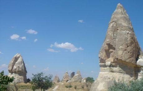Valle de la rosa en la Capadocia, Turquía