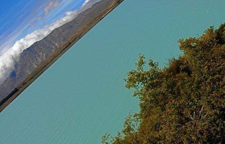 Vista aérea del lago Tekapo, Nueva Zelanda