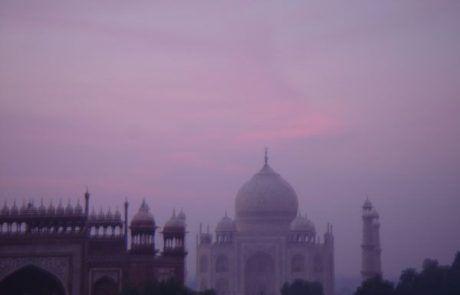 Vista del Taj Mahal desde la celda del fuerte de Agra