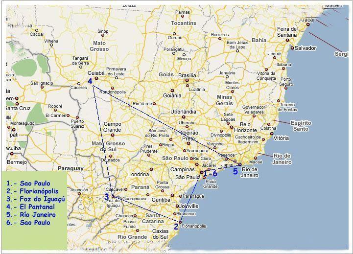 Ruta de 3 semanas en Brasil
