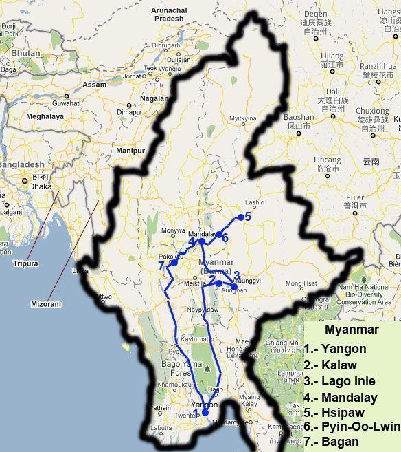 Ruta por los mejores lugares de Birmania