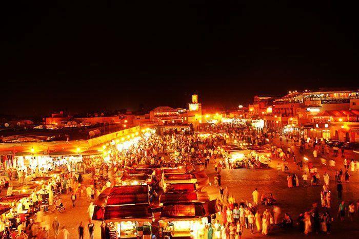 Plaza Jamaa el Fna en Marrakech