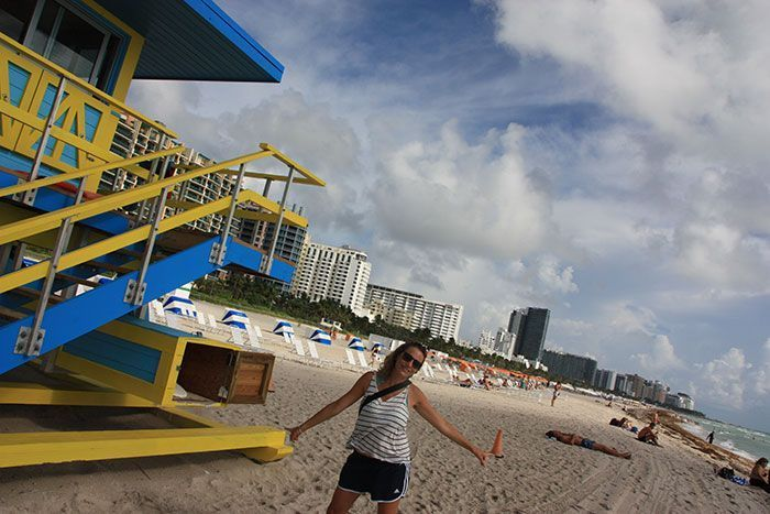 Bibi en Miami Beach!