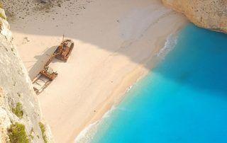 Playa Navagio, en Zakynthos, Grecia