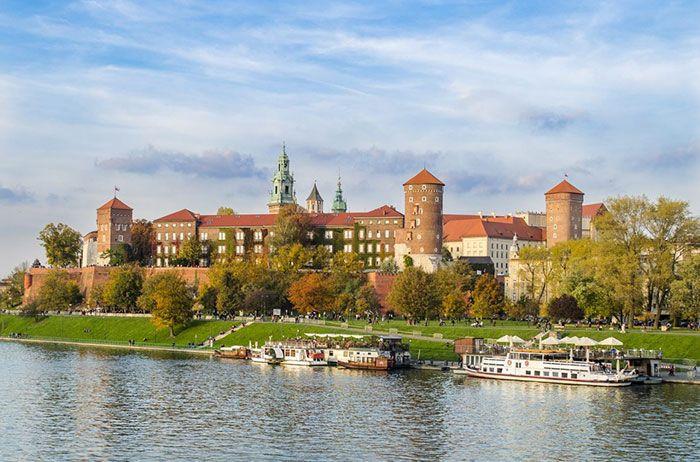 Cracovia, ciudad a orillas del río Vístula