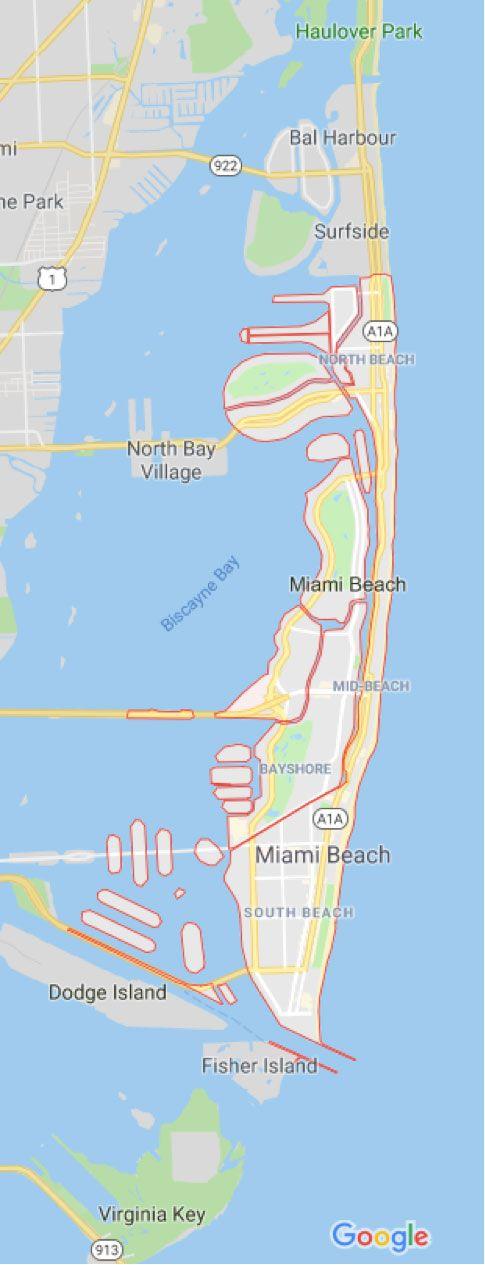 Mapa de Miami Beach